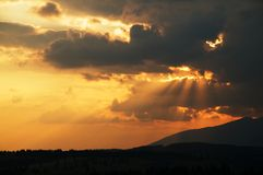 Antes do por do sol Fotografia de Stock Royalty Free