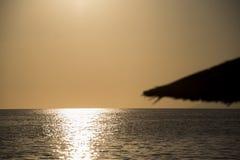 Antes do por do sol na ilha Grécia de Thasos Foto de Stock Royalty Free