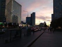 Antes do por do sol no Arbat de Moscou Fotografia de Stock
