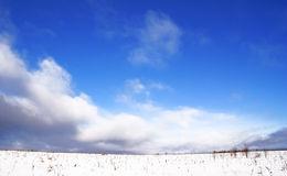 Antes do snow-fall. Foto de Stock Royalty Free
