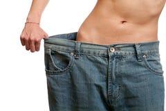 Antes e depois de peso perdedor Foto de Stock