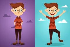 Antes y después: actitud Foto de archivo libre de regalías