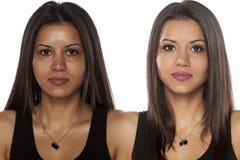 Antes y después de componga imagen de archivo libre de regalías
