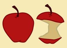 Antes y después de manzanas libre illustration
