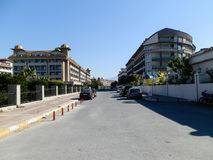ANTHALYA, TURQUÍA, hoteles costosos turcos hermosos de JULIO 7,2017 imagenes de archivo