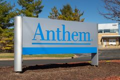 Anthem Insurance Company Exterior Entrance and Sign Royalty Free Stock Photo