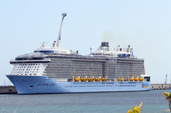 Anthem of the Seas, 26-05-2015 a large cruise ship on his first royalty free stock images