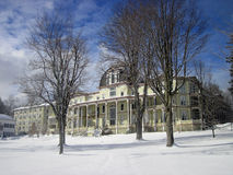 Anthenaeum το χειμώνα στο όργανο Chautauqua Στοκ Φωτογραφία