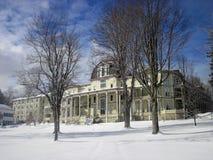 Anthenaeum im Winter in Chautauqua-Institution Stockfotografie