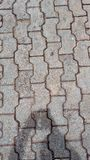 Anthereziegelstein im Bürgersteig Lizenzfreie Stockfotografie