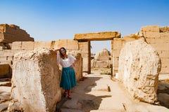 Anthient fördärvar i luxor, Egypten Arkivbild