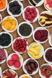 Anthocyanin Health Food Selection Stock Image