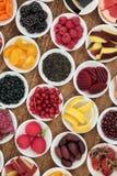 Anthocyanin zdrowie jedzenia wybór Obraz Stock