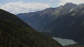 Antholzer Valley time lapse. High resolution time lapse shot of the alpine landscape of Antholzer valley, South Tyrol, Italy, as seen from the Staller Sattel stock footage