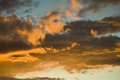 anthon clouds france skysolnedgång Arkivfoton