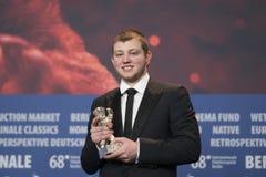 Anthony Bajon, vencedor do urso de prata para o melhor ator em Berlinale 2018 Foto de Stock Royalty Free