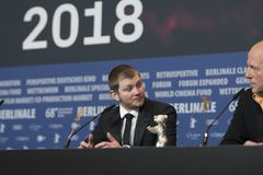 Anthony Bajon, vencedor do urso de prata para o melhor ator em Berlinale 2018 Fotografia de Stock