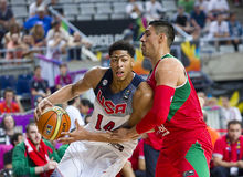 Anthony Davis and Gustavo Ayon Royalty Free Stock Image