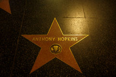 Anthony Hopkins στο Λος Άντζελες Στοκ Φωτογραφία