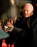 Anthony Hopkins. At the european premiere of 'Beowulf' at the Vue cinema on November 11, 2007, London, England Royalty Free Stock Photos