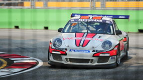 Anthony Liu racing at Porsche Carrera Cup Asia Royalty Free Stock Photography