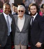 Anthony Mackie, Stan Lee και Aaron Taylor-Johnson Στοκ Εικόνα