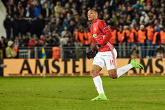 Anthony Martial, moments de jeu Images stock