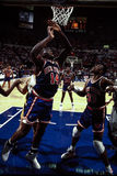 Anthony Mason and Patrick Ewing, New York Knicks. New York Knicks Anthony Mason (14) and Patrick Ewing (33). (Image taken from the color negative Stock Image