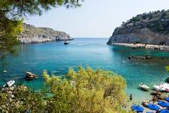 Κόλπος Ρόδος Ελλάδα του Anthony Quinn Στοκ Εικόνες
