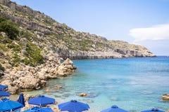 Anthony Quinn Bay, Ρόδος, Ελλάδα Στοκ Φωτογραφίες