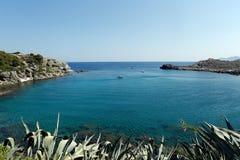 Anthony Quinn Bay, Ρόδος, Ελλάδα Στοκ εικόνα με δικαίωμα ελεύθερης χρήσης