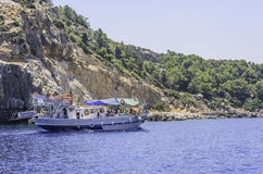 Anthony Quinn Bay (Anthony Quinn). Rhodes Island. Greece Stock Images
