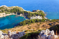Anthony Quinn Bay on the island of Rhodes Stock Image
