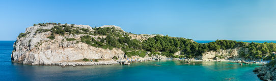 Anthony Quinn bay panorama Royalty Free Stock Photography