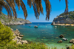 Anthony Quinn Bay on Rhodes Royalty Free Stock Image