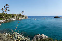 Anthony Quinn Bay, Rhodes, Greece Stock Photo