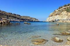 Anthony Quinn bay - Rhodes Greece stock photo