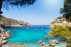 Anthony Quinn Bay Rhodes Greece Royalty Free Stock Images