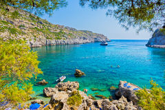 Anthony Quinn Bay Rhodes Greece Stock Image