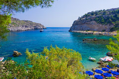 Anthony Quinn Bay Rhodes Greece Royalty Free Stock Image