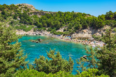 Anthony Quinn Bay. Rhodes, Greece Stock Images