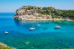 Anthony Quinn Bay. Rhodes, Greece Stock Photography