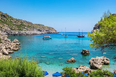 Anthony Quinn Bay. Rhodes, Greece Royalty Free Stock Photo