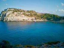 Anthony Quinn Bay, Rhodos, Griekenland royalty-vrije stock foto's