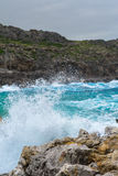 Anthony Quinn bay on a stormy day Stock Photography