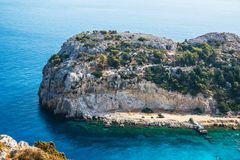Anthony Quinn beach. Panorama , suny day Royalty Free Stock Photography