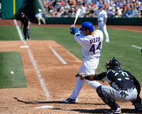 #44 Anthony Rizzo av Chicago Cubs. arkivfoton
