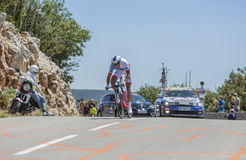 Anthony Roux, procès individuel de temps - Tour de France 2016 photographie stock libre de droits