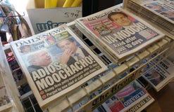 Anthony Scaramucci New York Newspaper-Schlagzeilen, USA Lizenzfreie Stockbilder