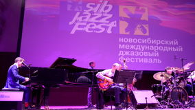 Anthony Strong and big-band of Vladimir Tolkachev stock footage